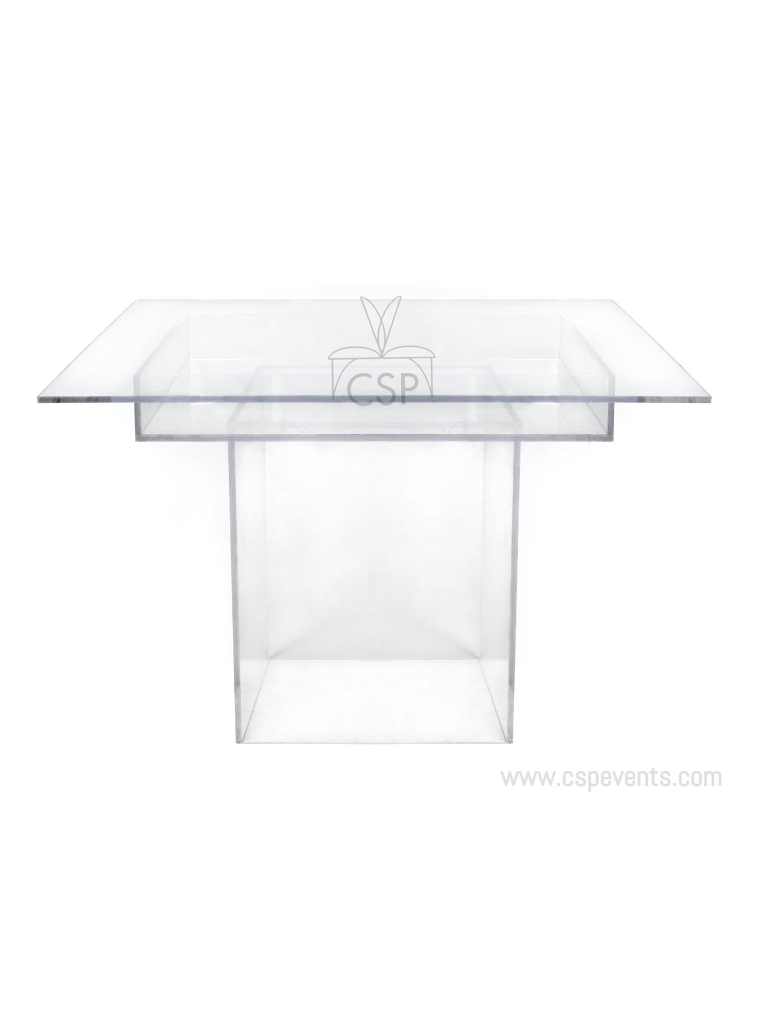 Clear Acrylic Table Set Csp