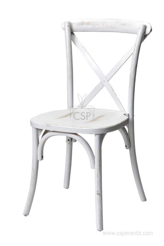 Whitewash, Dining chairs, Sonoma Crossback, Solid Wood, Stackable, Commercial Seating Products