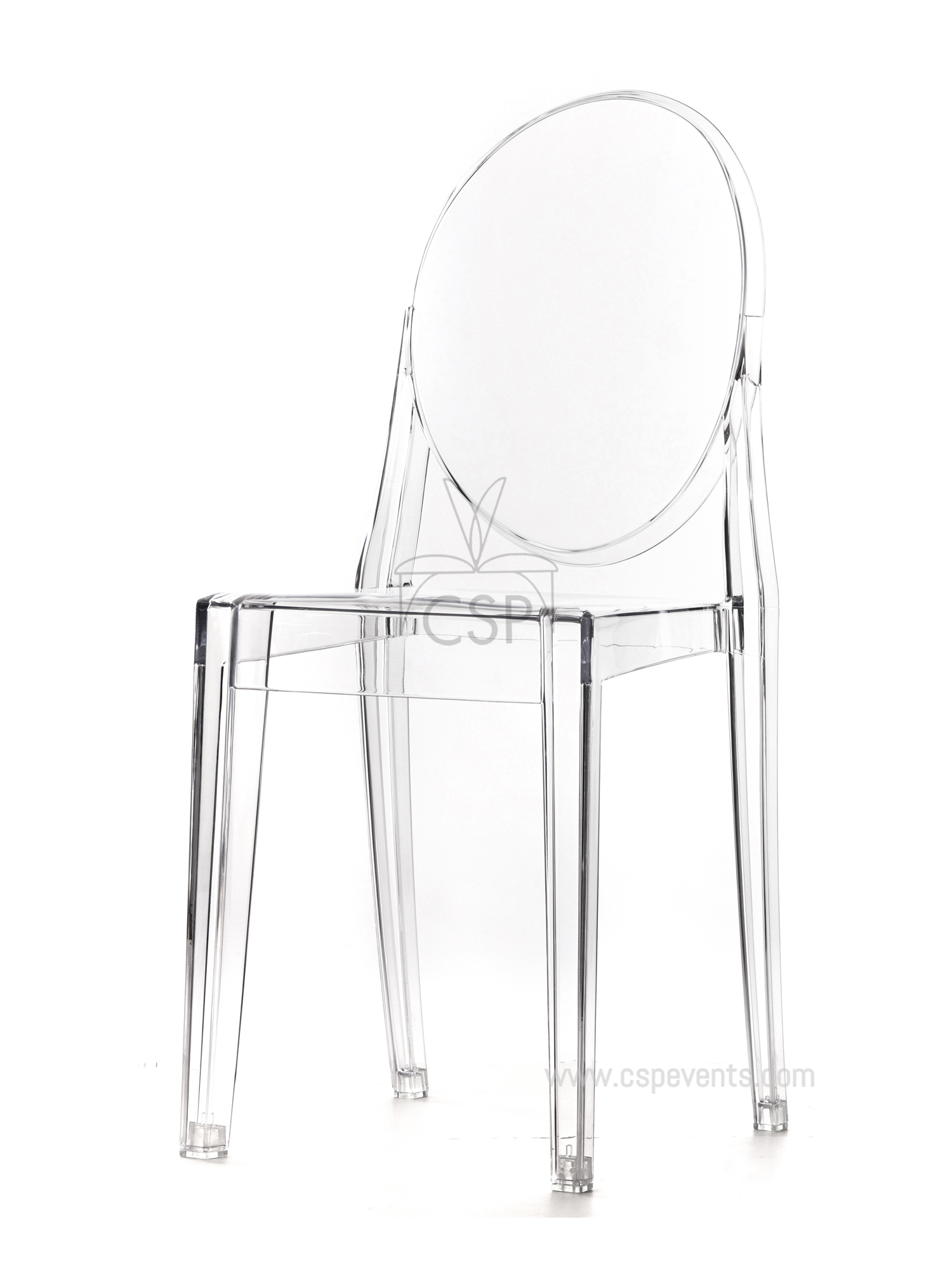 polycarbonate kage chair with no arm csp