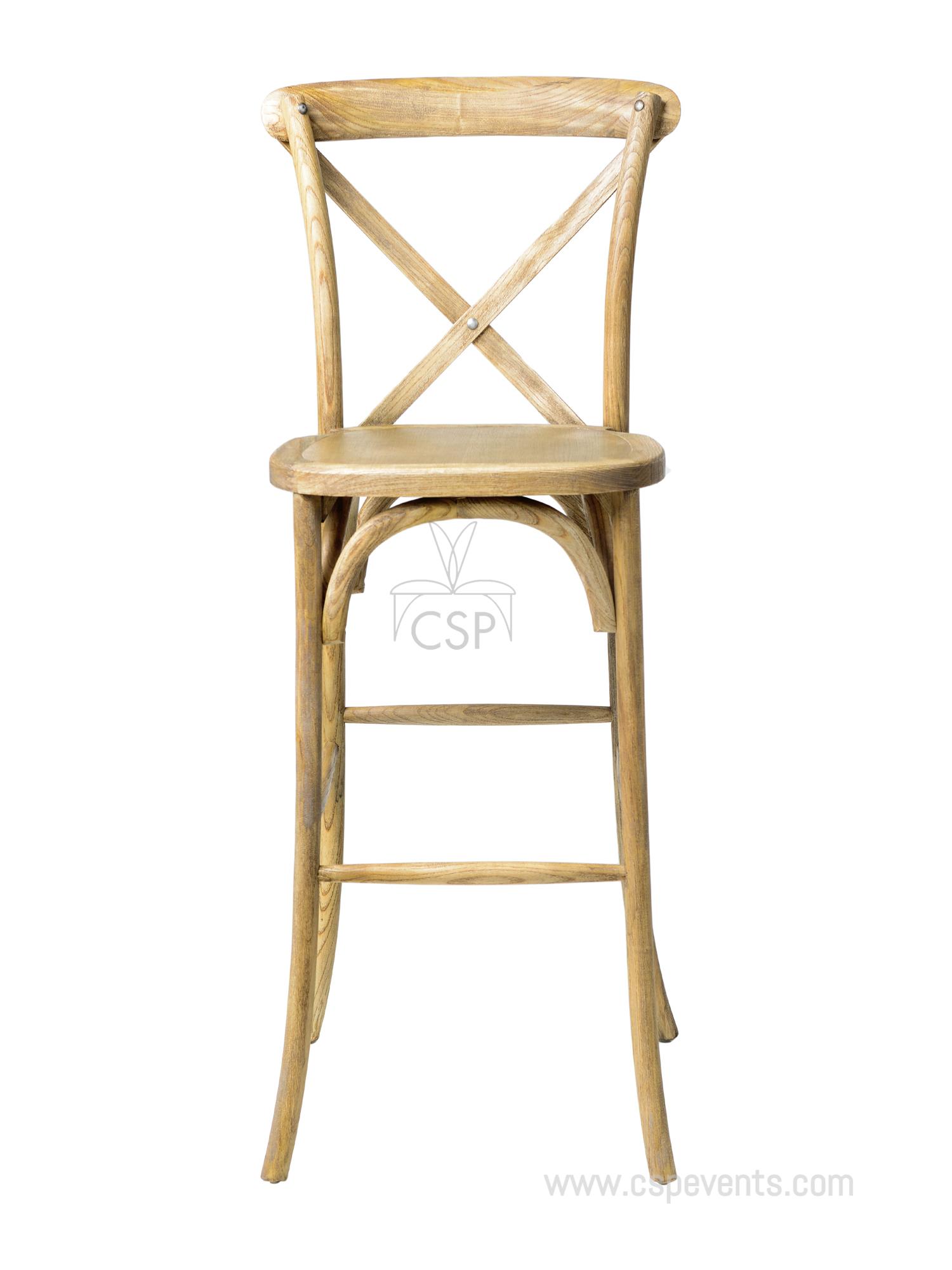 Sonoma Solid Wood Crossback X02 Barstool Csp