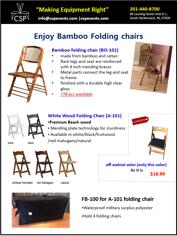enjoy bamboo folding chairs csp