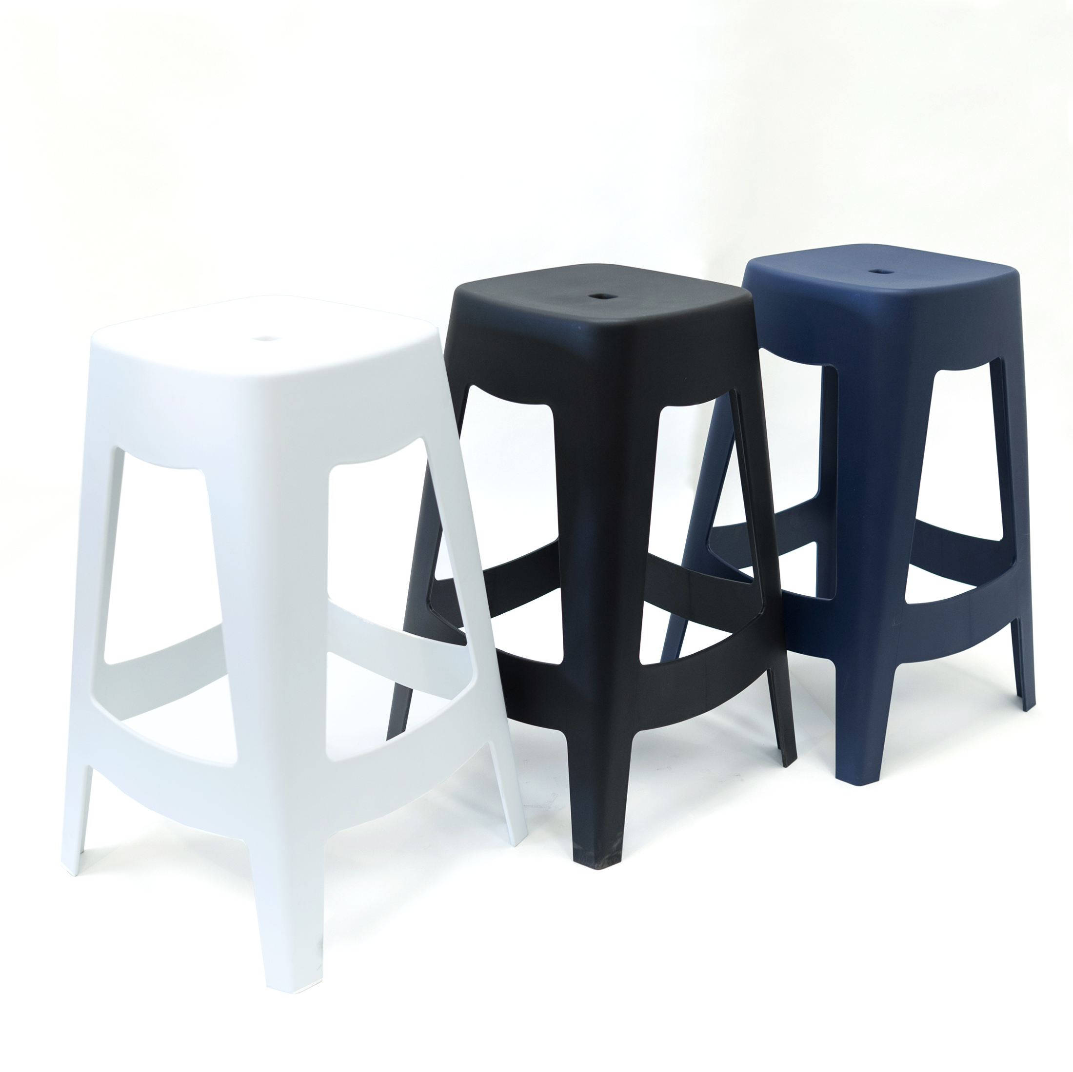 Plastic Stackable Minimal Backless Desi Stool Csp