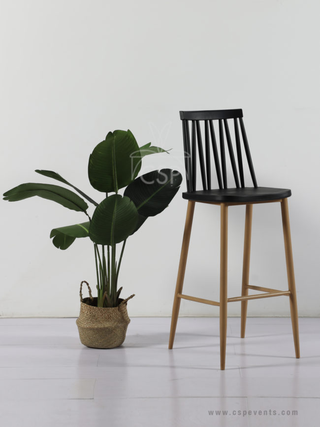 Plastic Windsor Barstool With Metal Legs Csp