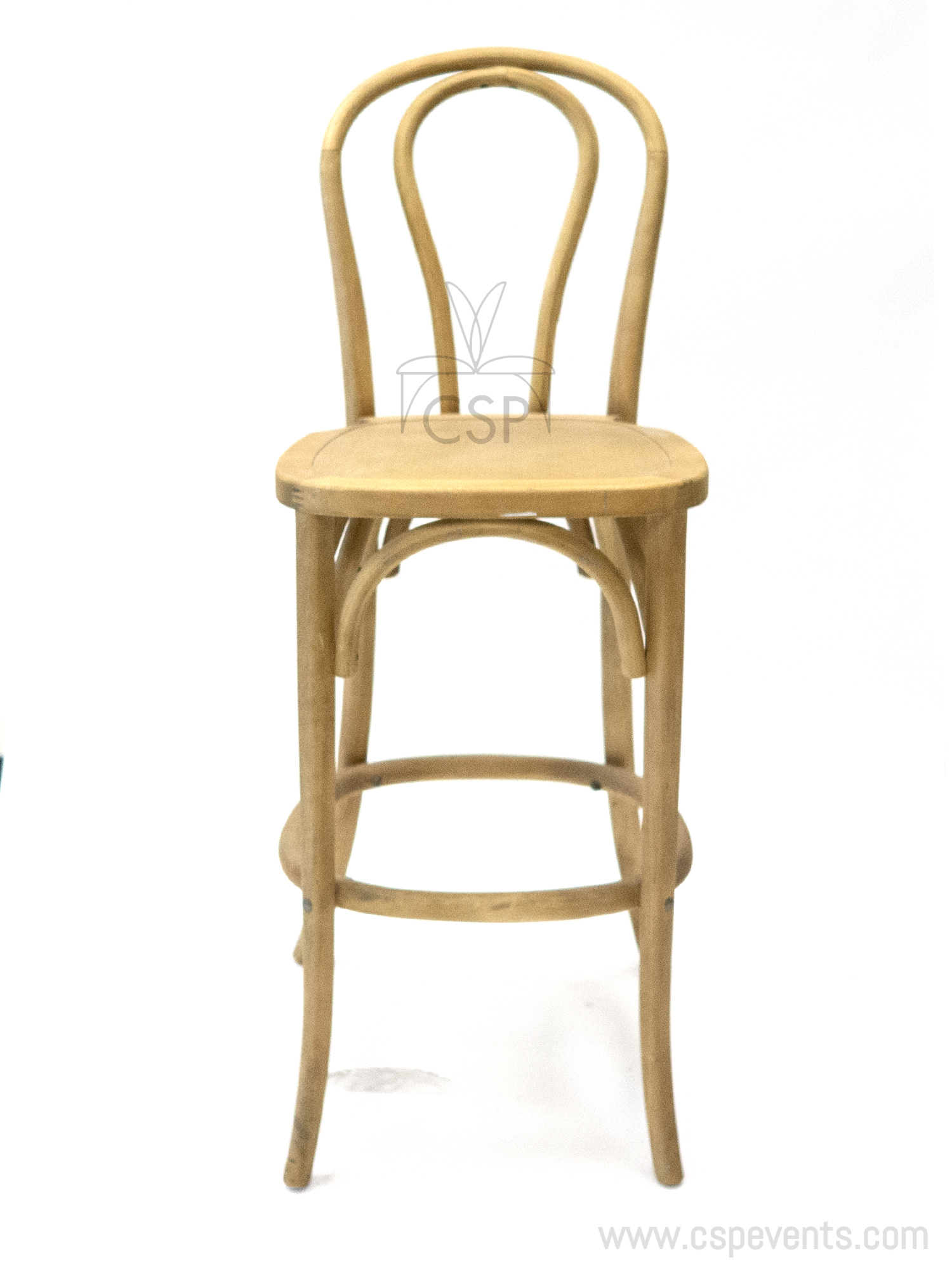 Bentwood Stackable Barstool With X02 Seat Tinted Raw Csp